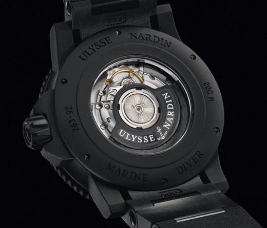 Fond de la montre Ulysse Nardin Black Sea
