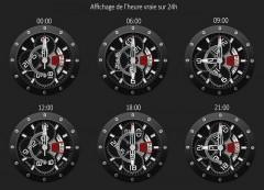 Cadran 24 heures montre Edmon Pole Guardian