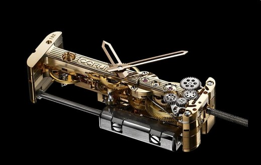 Mouvement baguette Corum Golden Bridge Automatic