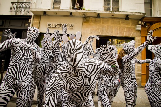 Swatch Zebra Day à Paris