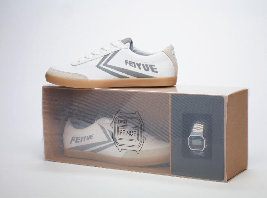 Coffret Casio Feiyue édition silver