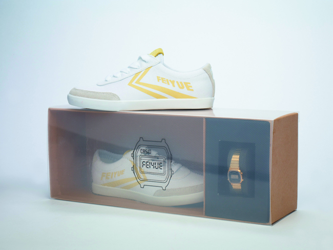 Coffret Casio Feiyue Gold Edition