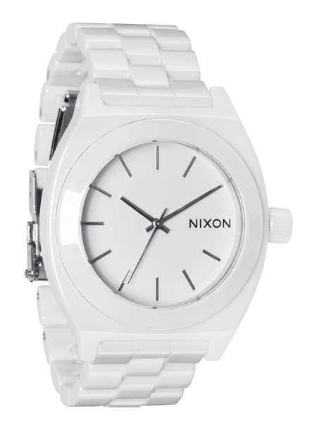 Nixon Ceramic Time Teller White