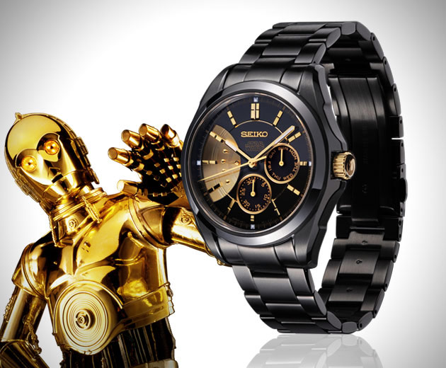 montre seiko star wars c3po montres passion. Black Bedroom Furniture Sets. Home Design Ideas