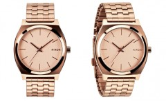 Montre-Nixon-Time-Teller-or-rose-gold