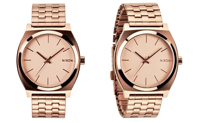 Montre-Nixon-Time-Teller-or-rose-gold