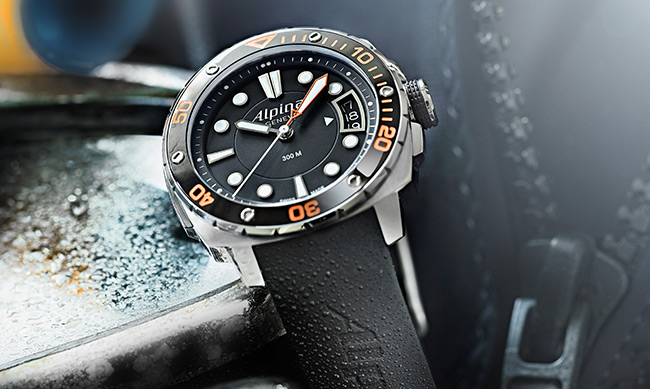 Montre-plongée-Alpina-Extreme-Diver-300-Orange