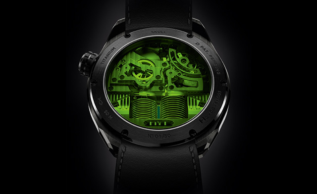 HYT-Skull-montres Green Eye