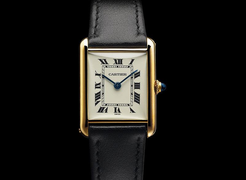 Watch-Cartier-Tank-gold-yellow